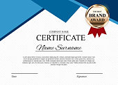 Certificate template Background. Award diploma design blank. Vector Illustration