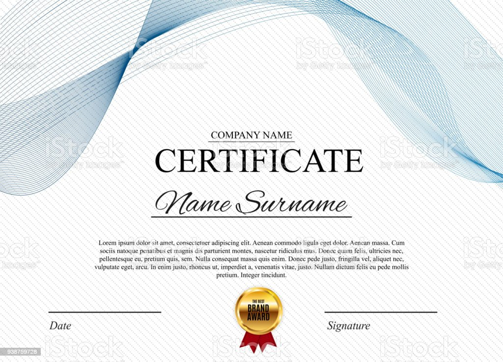Certificate template background award diploma design blank vector certificate template background award diploma design blank vector illustration royalty free certificate template yadclub Choice Image