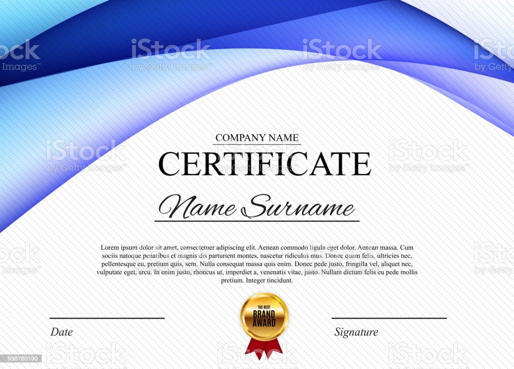 Zertifikatvorlage Hintergrund Diplom Design Leer Zu Vergeben