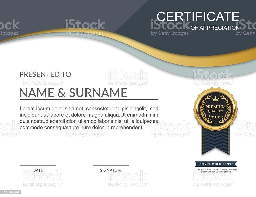 Certificate template certificate of appreciation vector stock vector certificate template certificate of appreciation vector royalty free certificate template certificate of appreciation yadclub Gallery