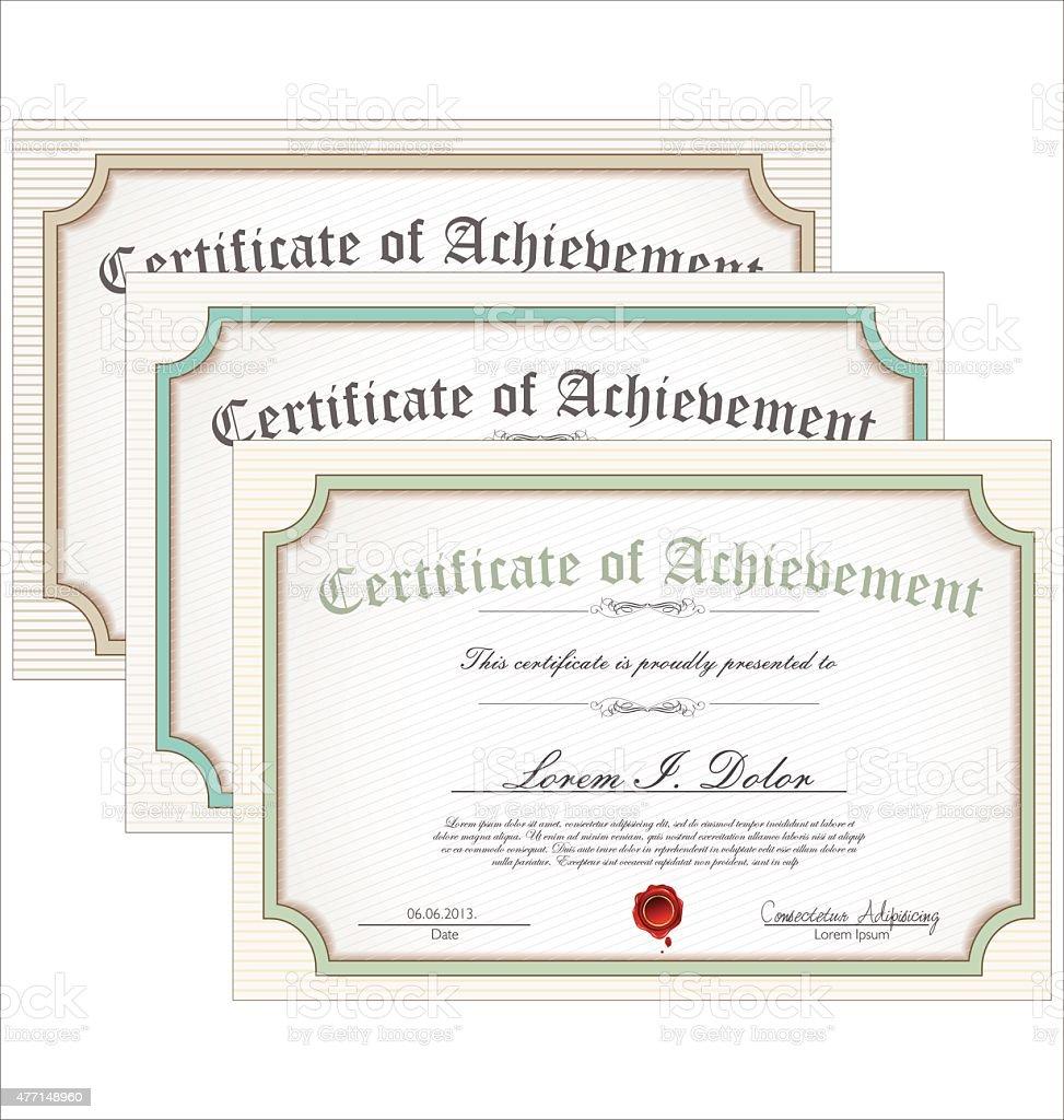 Zertifikat Vorlage Kollektion Stock Vektor Art und mehr Bilder von ...