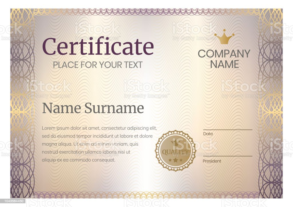 Certificate Template Design Award Background Stock Illustration ...