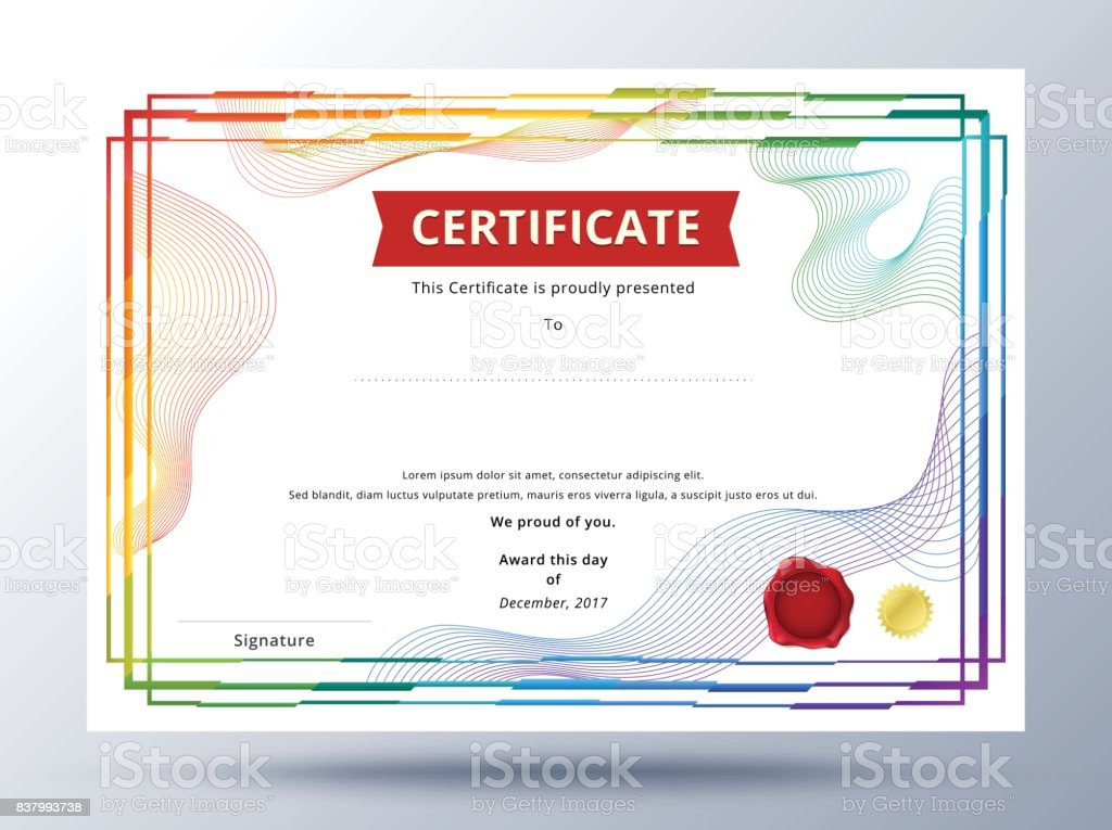 Certificate template design with simple concept colorful business certificate template design with simple concept colorful business certificate design royalty free certificate yadclub Choice Image