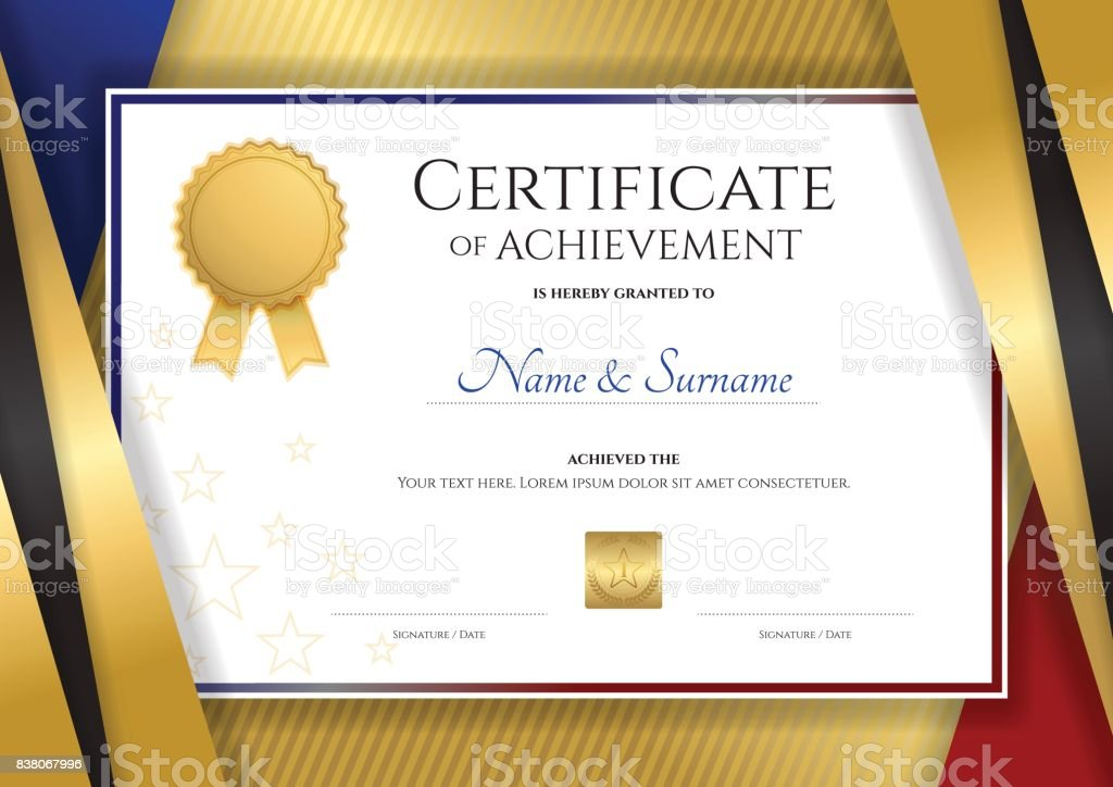 Certificate Template Diploma Design For Graduation Or Completion