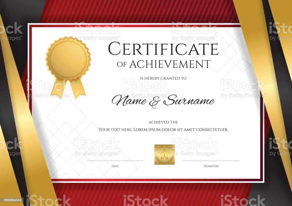 卒業設計卒業証明書テンプレート ベクターアートイラスト