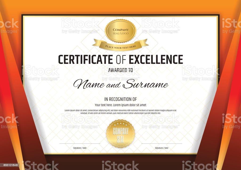 証明書テンプレート卒業または修了のディプロマ デザイン ベクターアートイラスト