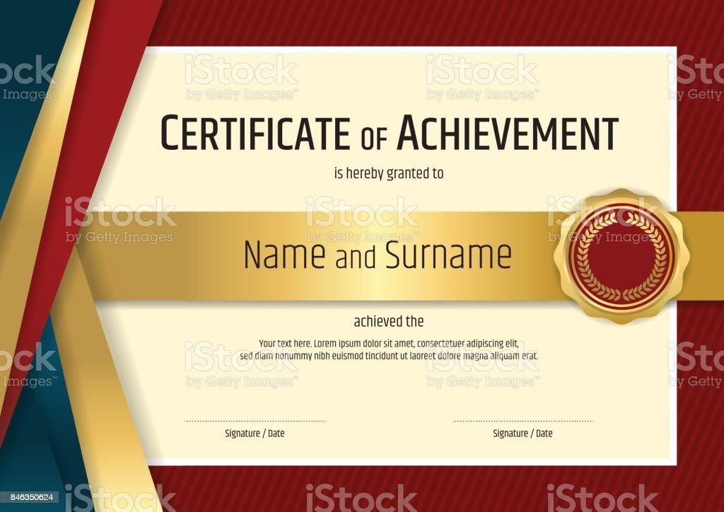 Zertifikatvorlage Diplom Design Mit Rahmen Stock Vektor Art und mehr ...