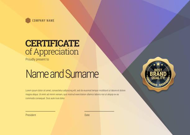 Certificate template. Diploma of modern design or gift certificate. Certificate template. Diploma of modern design or gift certificate. Vector illustration. banking borders stock illustrations