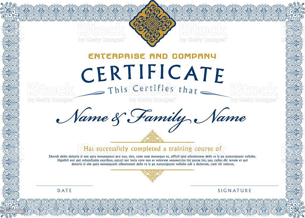 Certificado plantilla Diploma - ilustración de arte vectorial