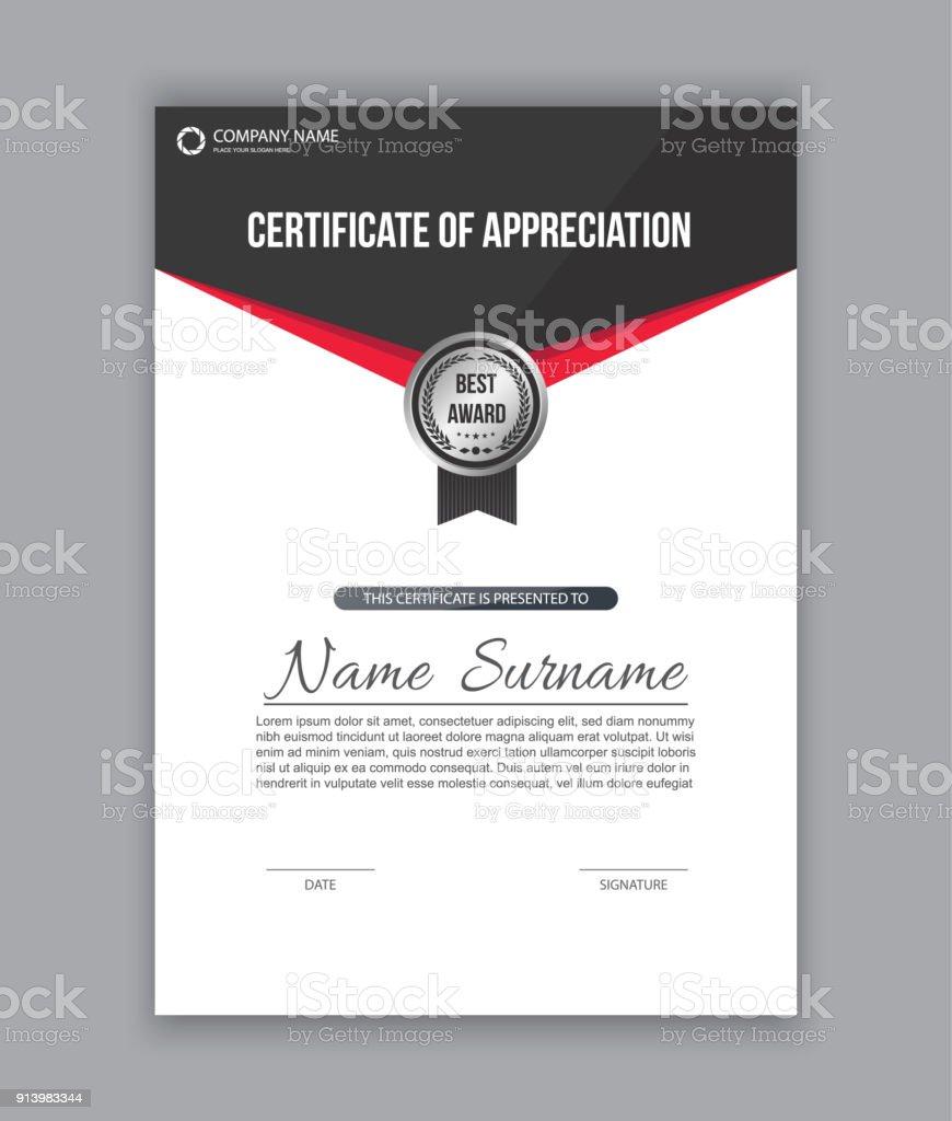 Zertifikatvorlage Diplom Stock Vektor Art und mehr Bilder von ...
