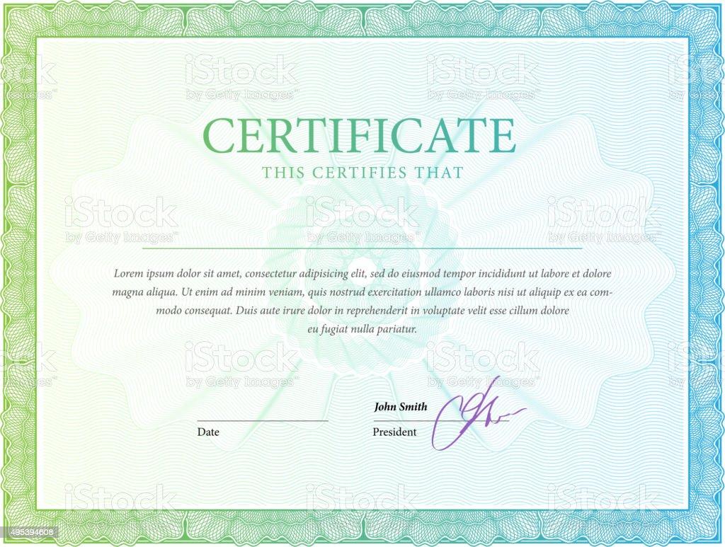 Zertifikat Vorlage Diplomen Währung Stock Vektor Art und mehr Bilder ...