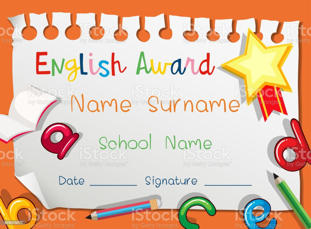 Certificate template for english award stock vector art more certificate template for english award royalty free certificate template for english award stock vector art yelopaper Choice Image