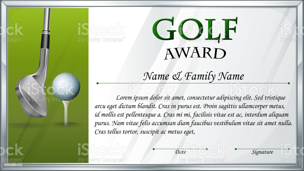 Golf Certificate Template Free Free Golf Award Certificate Templates Choice Image