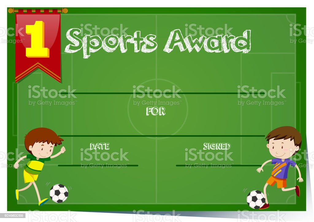 certificate template for sports award stock vector art more images
