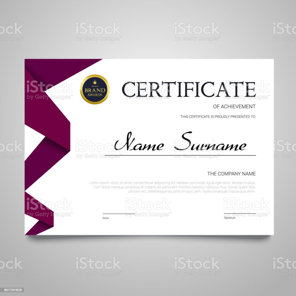 Certificate template horizontal elegant vector document stock certificate template horizontal elegant vector document royalty free stock vector art yelopaper Choice Image