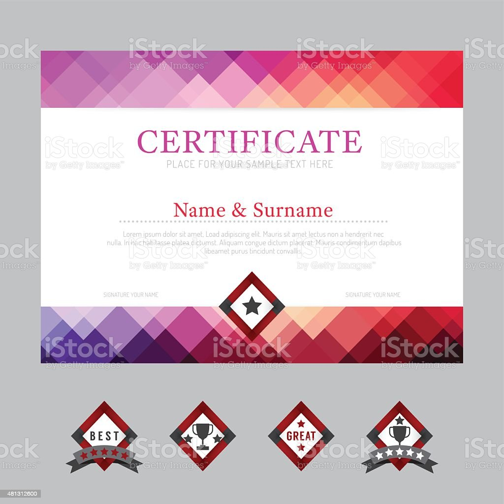 Certificate template layout background frame design vector mode certificate template layout background frame design vector mode royalty free stock vector art xflitez Gallery