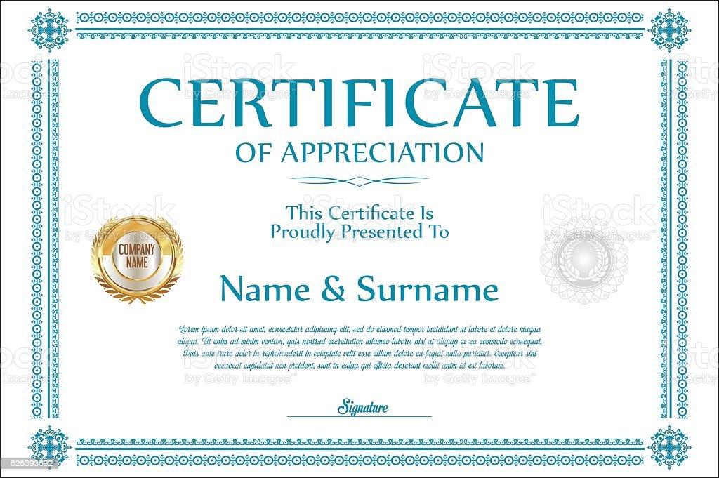 Certificate Template Retro Design Background Stock Vektor Art Und