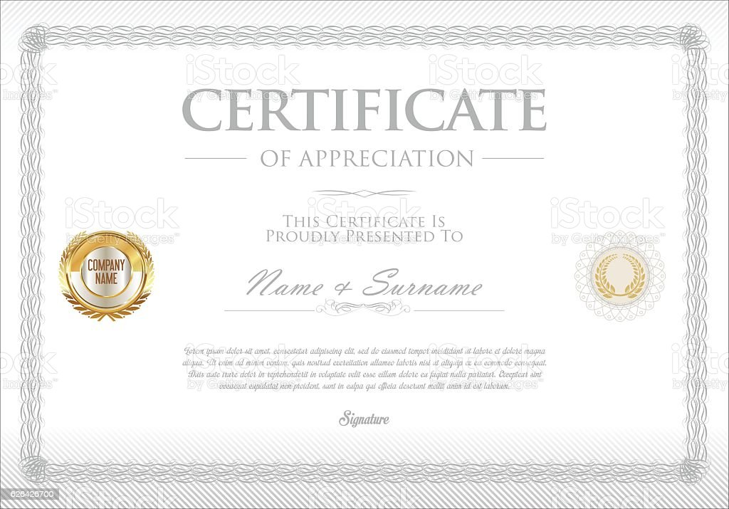 Certificate Template Retro Design Background Stock Illustration - Download  Image Now