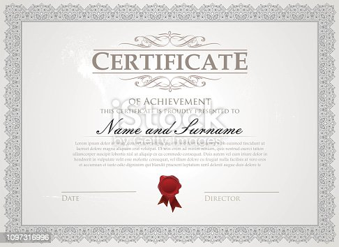 Certificate with traditional border