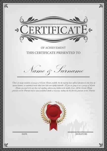 Modèle de certificat  - Illustration vectorielle