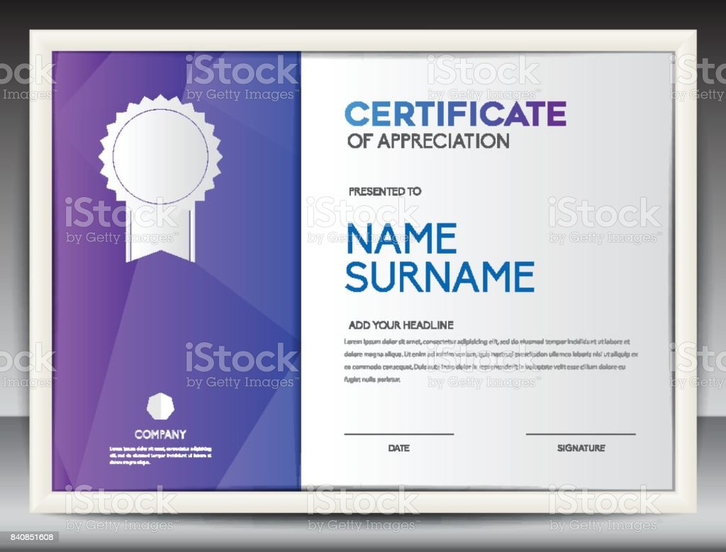 Certificate template vector illustration diploma layout in a4 size certificate template vector illustration diploma layout in a4 size business flyer design advertisement yadclub Choice Image