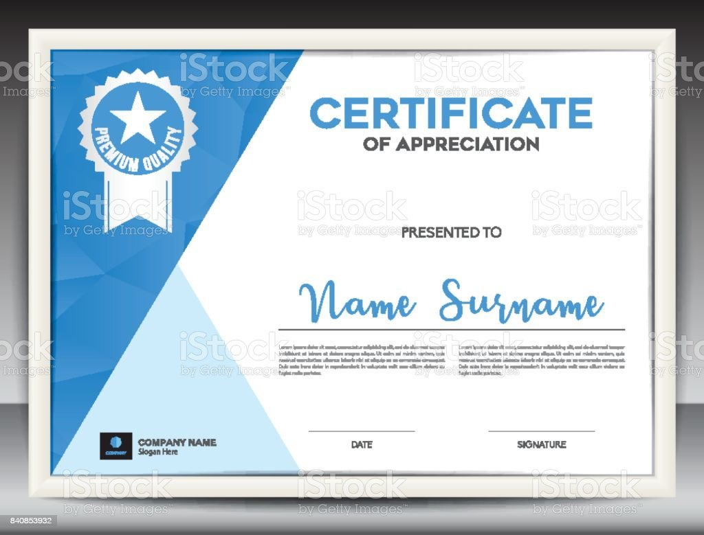 Certificate template vector illustration diploma layout in a4 size certificate template vector illustration diploma layout in a4 size business flyer design advertisement yadclub Images