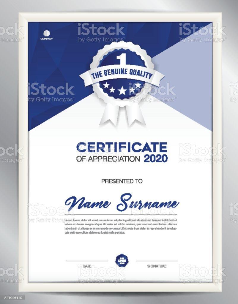 Certificate template vector illustration diploma layout in a4 size certificate template vector illustration diploma layout in a4 size business flyer design advertisement xflitez Images