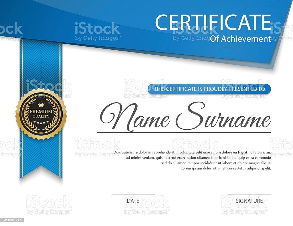 Zertifikat Vorlage Vektor Stock Vektor Art und mehr Bilder von 2015 ...