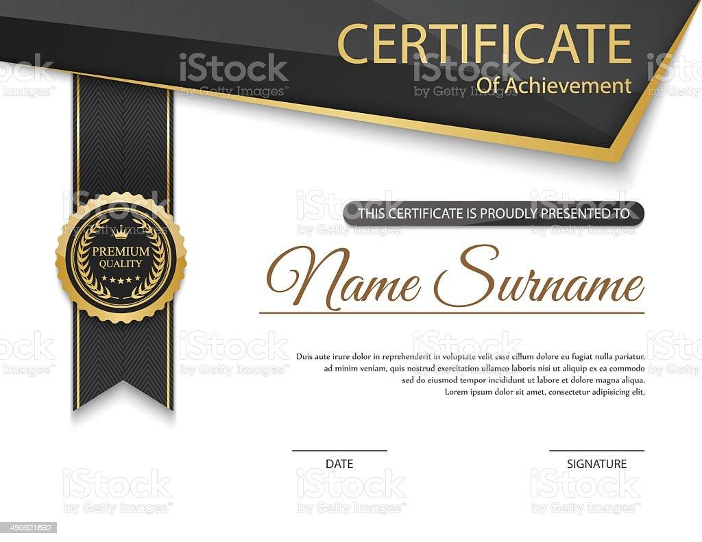 vector de plantilla de certificado - ilustración de arte vectorial