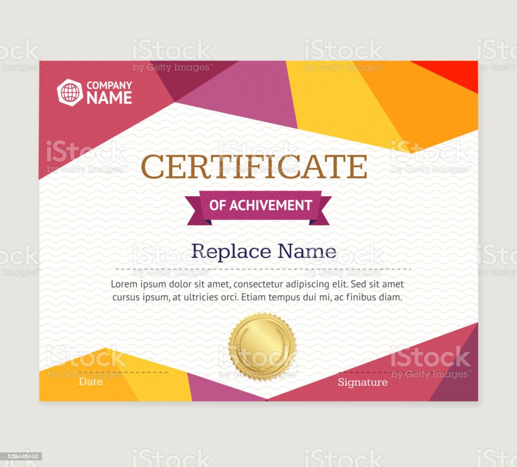 Certificate template vector stock vector art 539446440 istock certificate template vector royalty free stock vector art xflitez Gallery