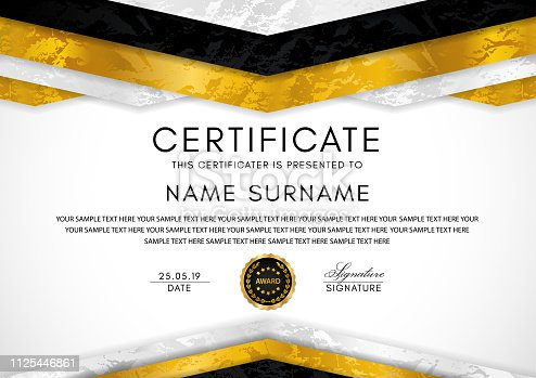 Design for Diploma, certificate of appreciation, achievement, completion, of excellence, award