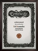 Vector certificate template eps9 (gothic font included)