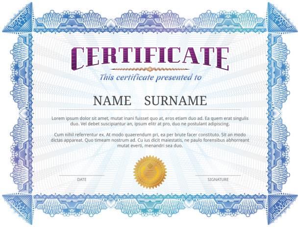 証明書テンプレートにギロッシュ要素 - 証明書と表彰のフレーム点のイラスト素材/クリップアート素材/マンガ素材/アイコン素材