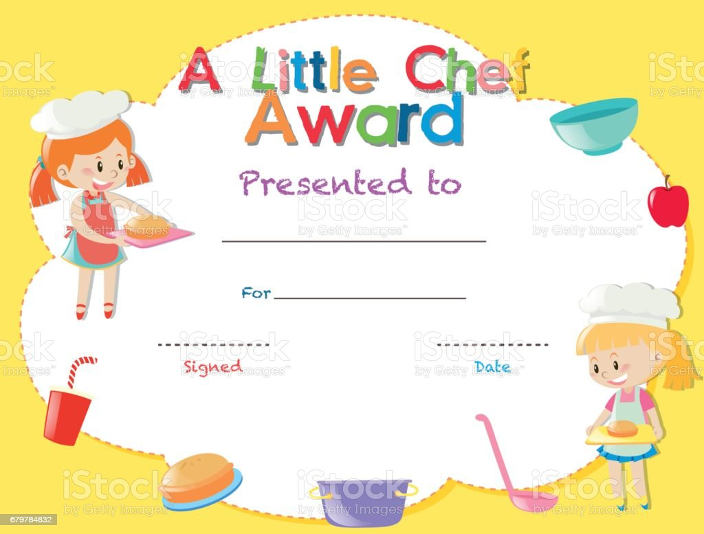 Certificate template with kids cooking stock vector art more certificate template with kids cooking royalty free certificate template with kids cooking stock vector art yadclub Gallery
