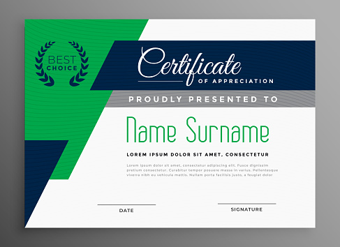 certificate templates stock illustrations