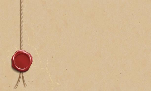 stockillustraties, clipart, cartoons en iconen met de sjabloon van het certificaat met de lakzegel. lege manuscript op perkament. - geschiedenis