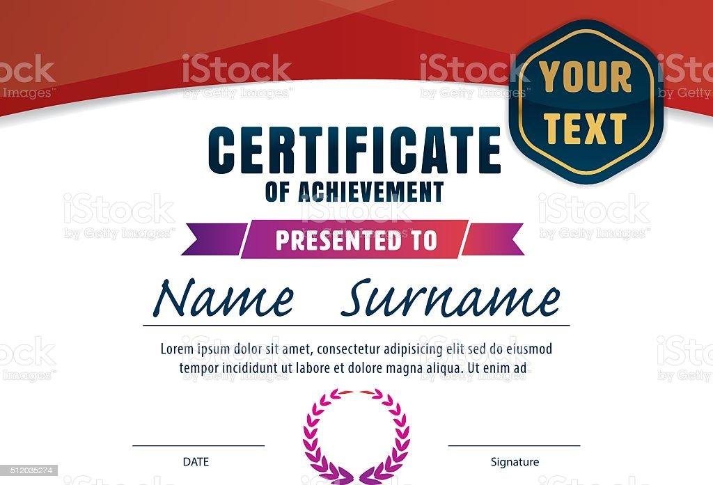 Certificate Templatediploma Layouta4 Size Vector Stock Vector Art