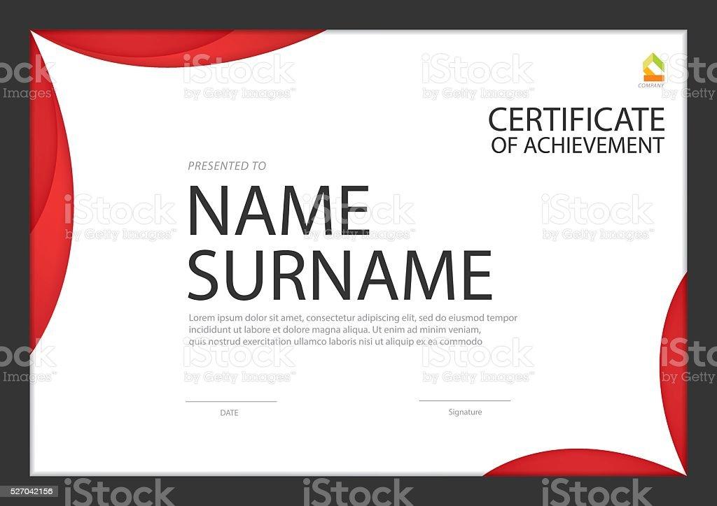 Zertifikat Vorlage Diplom Layout Din A4 Vektor Stock Vektor Art und ...