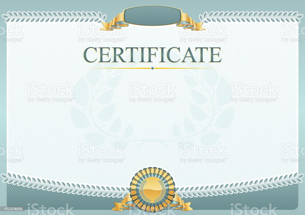 Certificate royalty-free stock vector art