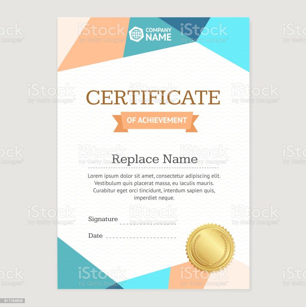 Certificate Vertical Template. Vector ベクターアートイラスト