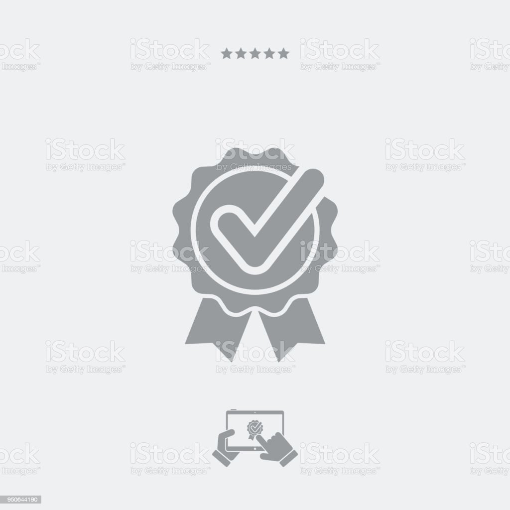 Certificated And Checked Quality Stock Vector Art More Images Of