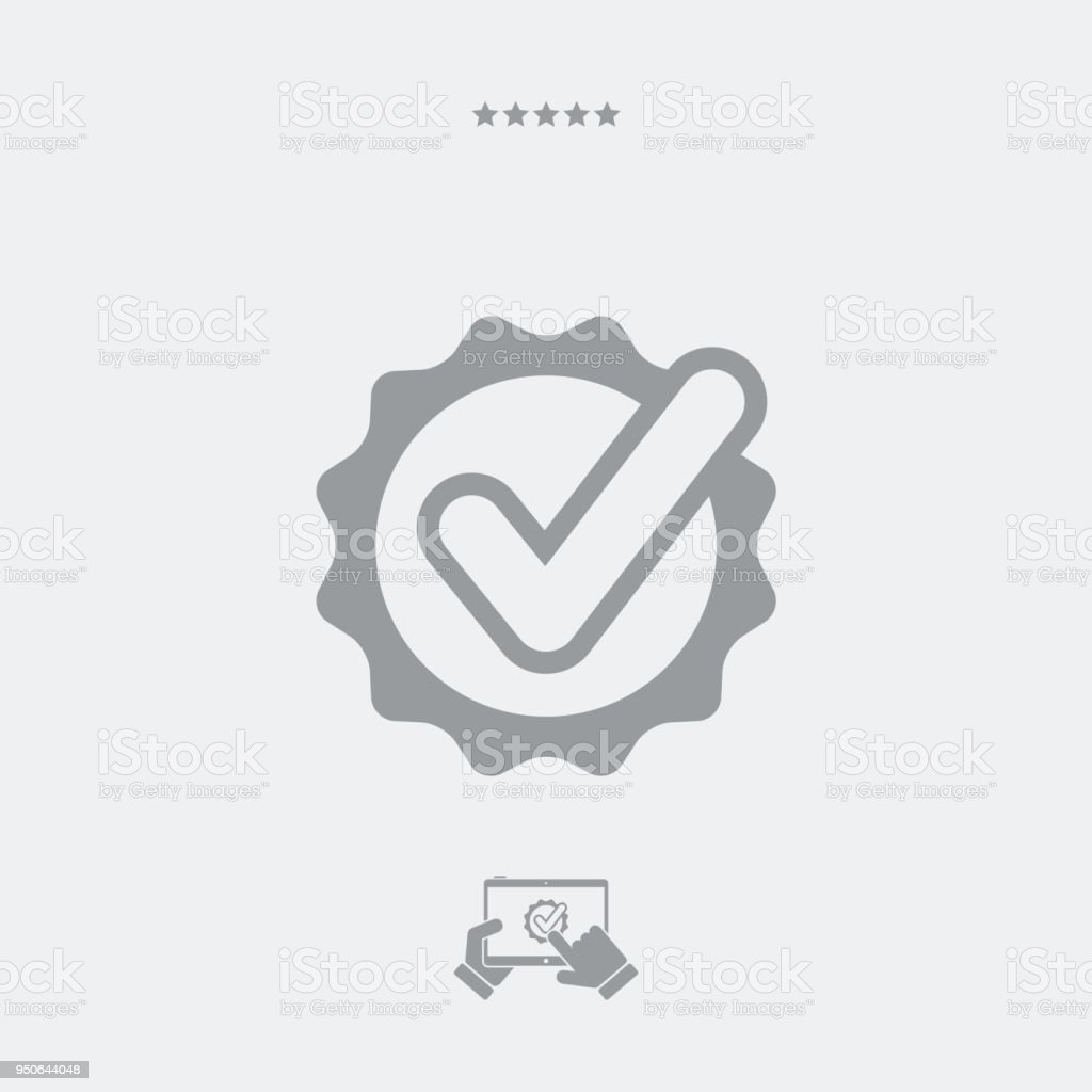 Certificated Check Symbol Stock Vector Art More Images Of