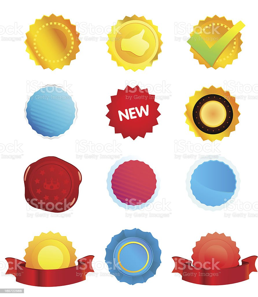 Certificates and Seals royalty-free stock vector art
