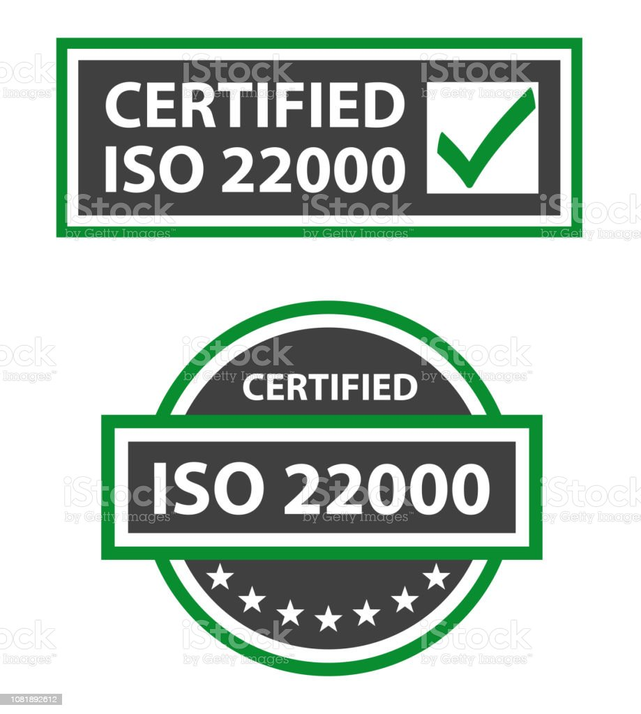 Iso 22000 2018 Certified Food Safety Management Stock