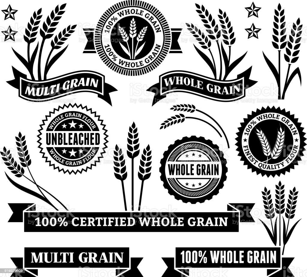 Certified Gluten Free Signs & Banners vector art illustration