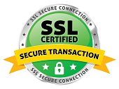 istock SSL Certified Icon with Secure Transaction Ribbon 507157462