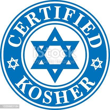 istock Certified Kosher Label 1035683184