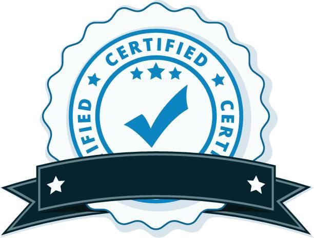 Certified Label Illustration Vector Art
