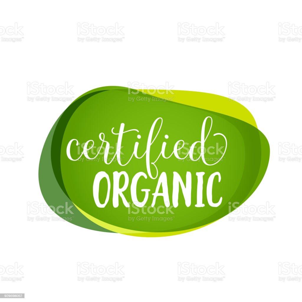 Letras orgánicas certificadas ilustración de letras orgánicas certificadas y más vectores libres de derechos de abstracto libre de derechos
