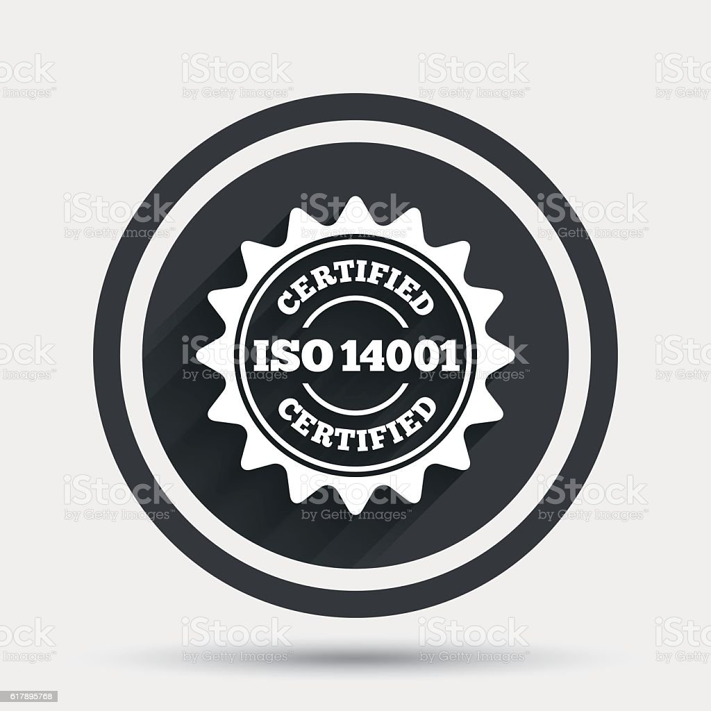 ISO 14001 Certified Sign Certification Stamp Royalty Free Iso